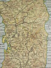 1919 LARGE MAP ~ ITALY SOUTH WEST ~ SARDINIA ~ INSET ECONOMICS
