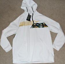 NWT Mens Sz XL X-Large Nike Therma Fit Fleece Sweatshirt Hoodie Pullover White