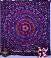 Indian Elephant Mandala Tapestry Hippie Wall Hanging Bohemian Queen Bedspread