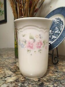 Tea Rose Design Pfatzgraff Cylindrical Vase
