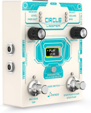 Donner Circle Looper Guitar Effect Pedal with Time Progress Bar Display Drum
