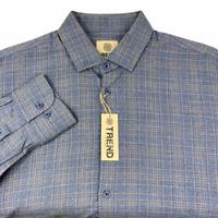 FUSION TREND Mens Sz Large Long Sleeve Button-down Casual Dress Shirt NWT Plaid