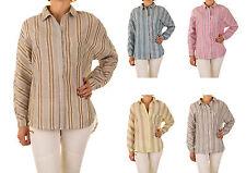 Locker sitzende Damenblusen, - tops & -shirts mit klassischem Kragen aus Viskose
