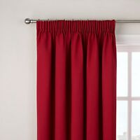 1 John Lewis Cherry Cotton Ready Made Lined Pencil Pleat Curtain 167 W x 137cm D