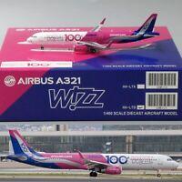 *SALE* Wizz Air 100TH Airbus A321-200 Diecast Model Reg:HA-LTD JC Wings 1:400