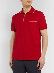 LORO PIANA New L Regatta Contrast-Tipped Stretch-Cotton Piqué Polo Shirt $495