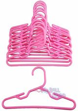 """24 Pink Hangers Plastic fit 18"""" American Girl Doll Clothes Hangers Accessories"""