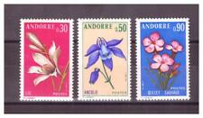ANDORRE . N°  229/231 .  3  VALEURS  FLEURS     NEUVES    **. SUPERBE