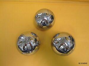 Three (3) Metal Bocce Bocci Ball Balls