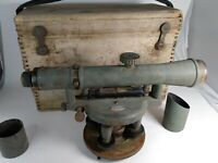 Vintage Craftsman Surveyor Transit In Wooden Case