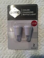 Dashing Color-Changing Bottle Lights (2 in the pack) Led New