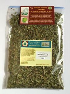 DANDELION LEAF 100g Certified Organic Taraxacum officinalis HERBAL TEA Herb