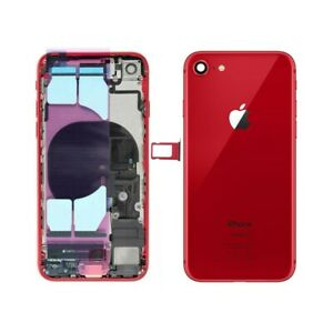 BACK COVER SCOCCA POSTERIORE CASE CHASSIS PER IPHONE 8 RED PRODUCT 100% QUALITA'