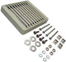 Rejilla protección beige para ventilador caja ordenador 80x80mm con filtro polvo