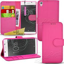 Para Sony Xperia L1-Billetera Cuero Estuche Flip Libro Cubierta + Protector de pantalla