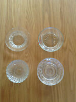 Pressed Glass Dish Bowl Trinket Jewellery Dish 4 Designs Clear Glass