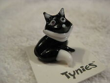 Fred Fox Black animal Tynies Tiny Glass Figure Figurines Collectibles 0146
