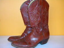 1970's Brown Leather Western Boots by Justin Men's Size 10 1/2 D Usa Made