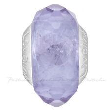 Lovelinks Bead Sterling Silver, Faceted Light Purple Murano Glass Charm TM609