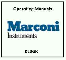 Marconi Instruments Programming, Service and Operating Manuals * CDROM * PDF