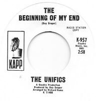 THE UNIFICS The Beginning Of My End on Kapp PROMO soul 45 HEAR