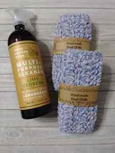 crochet dust cloth reusable set handmade chemical free  new U pick  1