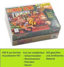 100 x SNES Schutzhüllen N64 Hüllen 0,3mm OVP CIB Für Super Nintendo Nintendo 64
