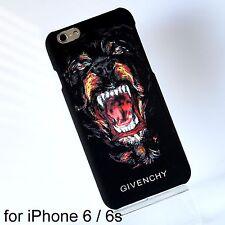 Givenchy Rottweiler Dog Black Matte Hard Case Cover iPhone 6 6s