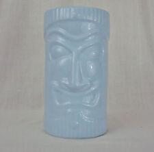 Large Tiki Coin Bank Light Blue Ceramic 9 In Tall 2003 C.N.Burman Co Man Cave