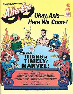 Roy Thomas' Alter Ego #20 VF- Timely Marvel - 1965 NYCC Gardner Fox - FCA CCBeck