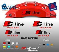 KIT 4 ADESIVI AUDI S LINE sticker PER PINZE FRENO A1 A2 A3 A4 A5 A6 S1 S3 S4 S5