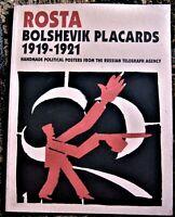 Russian art book ROSTA: BOLSHEVIK PLACARDS 1919-1921 Handmade Political Posters