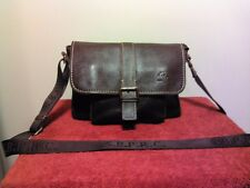 NWOT Santa Barbara Polo & Racquet Club Brown Leather Shoulder Crossbody Bag