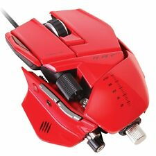 Mad Catz R.A.T.7 6400 dpi Gaming Maus Laser USB RAT7 rot 6400dpi PC & MAC
