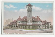 Vintage Postcard Portland Maine ME Grand Trunk R.R. Railroad Station WB