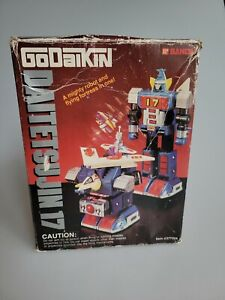 Vintage GoDaikin Daitetsujin 17 Bandai Shogun Popy Diecast Toy Robot w box JAPAN