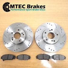 Lancer Evo 5 6 7 8 9 MTEC Drilled Grooved Brake Discs Front & MTEC Pads