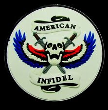 AMERICAN INFIDEL 3D GLOW PVC US ARMY ISIS USA MILITARY COLOR VELCRO MORALE PATCH