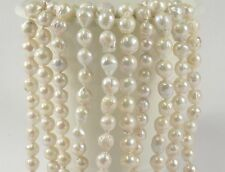 8-10mm Natural White Baroque Freshwater Pearl Beads,Cultured Baroque Pearl(#271)
