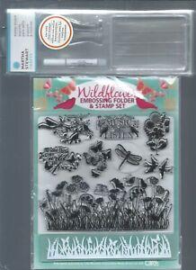Martha Stewart Crafts Stamp Mount Medium & Wildflower Embossing & Stamp Bundle