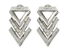 Eddie Borgo Twill Chevron Earrings Triangle Motif  NWT List Price $200