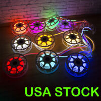 USA 150ft LED Neon Rope Light Flex Tube Sign Wedding Party Home Decor Light 110V