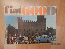 catalogue FIAT 600D & MULTIPLA