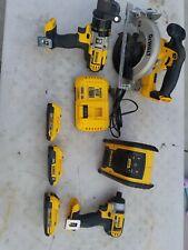 Dewalt DCD985 Drill & DCF885 Impact Driver USED w 3 batteries
