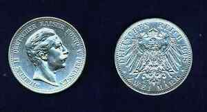 GERMANY  PRUSSIA  1908-A   2 MARK SILVER COIN CHOICE UNCIRCULATED