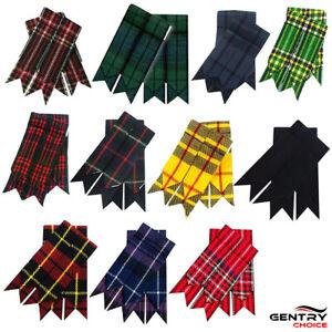 Highland Traditional Tartan kilt outfit Kilt garters Scottish hose flashes