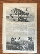 Cuba. Tobacco Plantations. Sponge Fisher's Home. Wood Engraving, 1870.