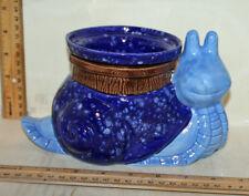 Large Blue Snail Ceramic Standard Sized African Violet Pot