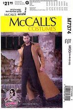 McCall's Sewing Pattern M7374 Men's 46-52 long Coat duster Costume 7374 Yaya Han