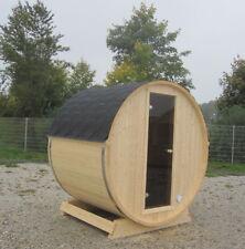 42 mm Terrassensauna Ø ca 204 cm+ Elektroofen 400 V 6kw Sauna Saunafass Faßsauna